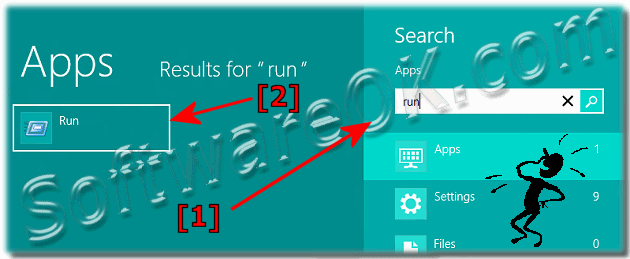 Start the Run-Dialog in Windows 8 via Start-Menu search box