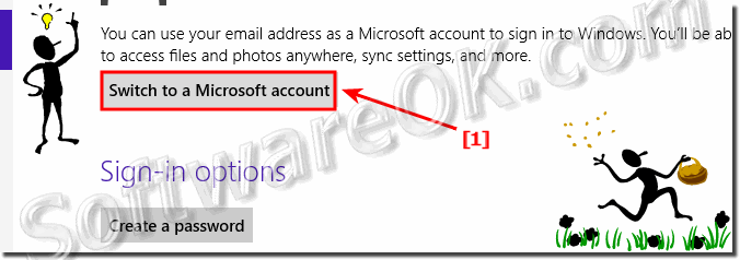 Switch in Windows 8 to a Microsoft account!
