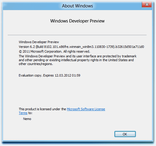 Windows-8 Evaluation