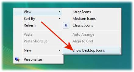 create Vista desktop shortcuts