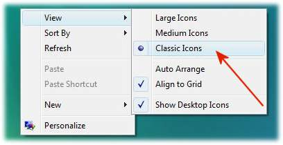 Desktop icons and symbols in Vista Classic symbols