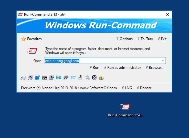 نرم افزار Run پیشرفته (برای ویندوز) - Run-Command 2.71 Windows