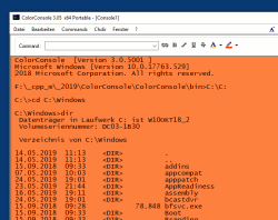 ColorConsole 2 Cmd.exe in Orange color on MS Windows 10