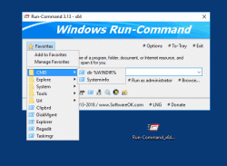 Run-Command 1 Favorites for a fast access to open Folders and Start Programs