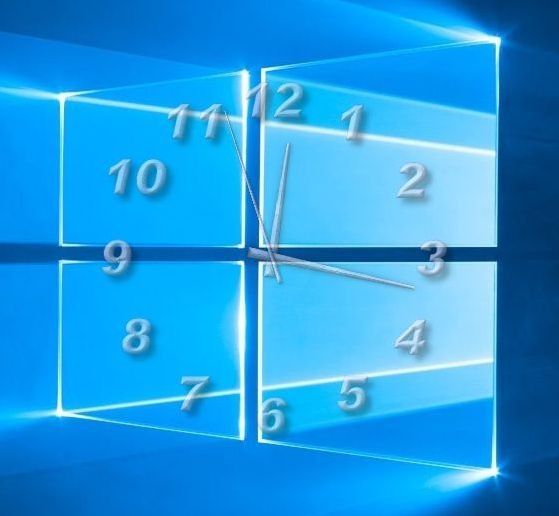 TheAeroClock 8 Desktop clock matching the Windows 10 logo