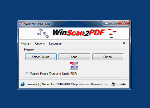 An Altarnative Scann Software for free is WinScan2PDF!